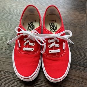 vans canvas authentic sneakers red